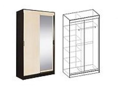 Шкаф-купе 2-х створчатый с 1 зеркалом Светлана 07