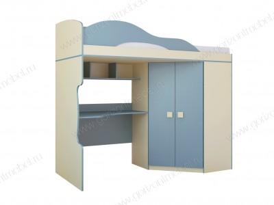 Кровать 2 этаж + шкаф